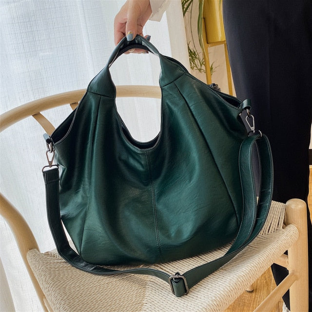 Half Moon Tote Bag - Vegan Leather