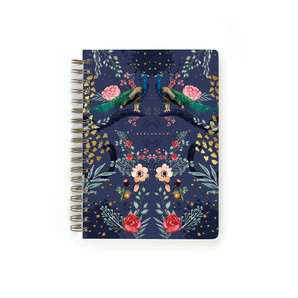 Cuaderno Pavo Real Blue Beplanner