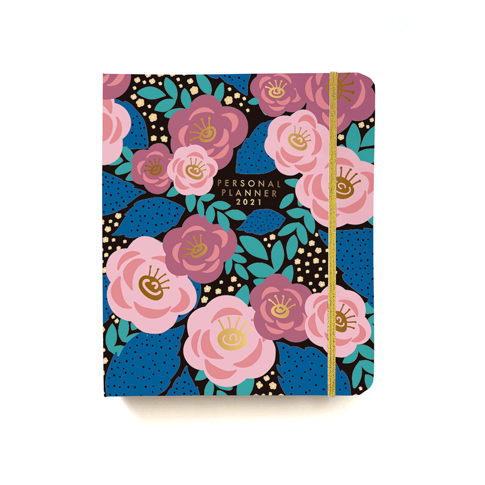Personal Planner Flores Azul