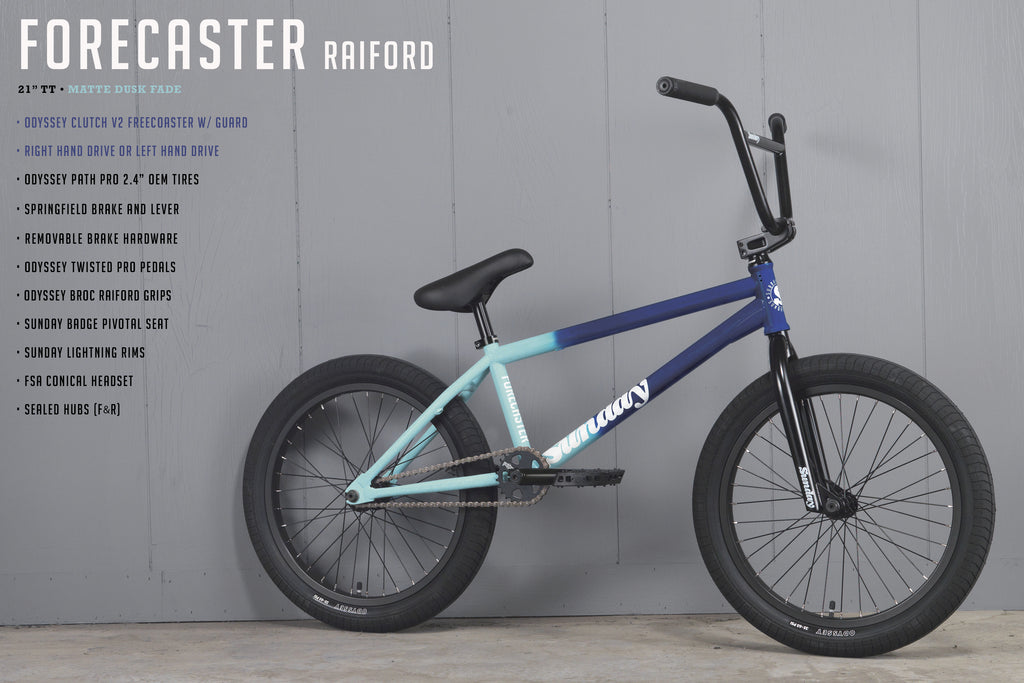 "2021 Sunday Forecaster - Broc Raiford Signature (Matte Dusk Fade with 21"" tt in LHD or RHD)"
