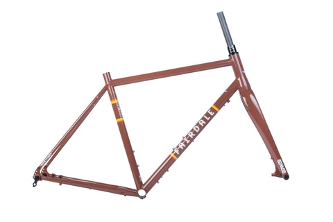 Fairdale Rockitship Frame and ENVE CX Fork Kit (Chocolate Brown)