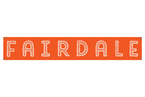 Fairdale Handy Banner - Orange (6' x 1')