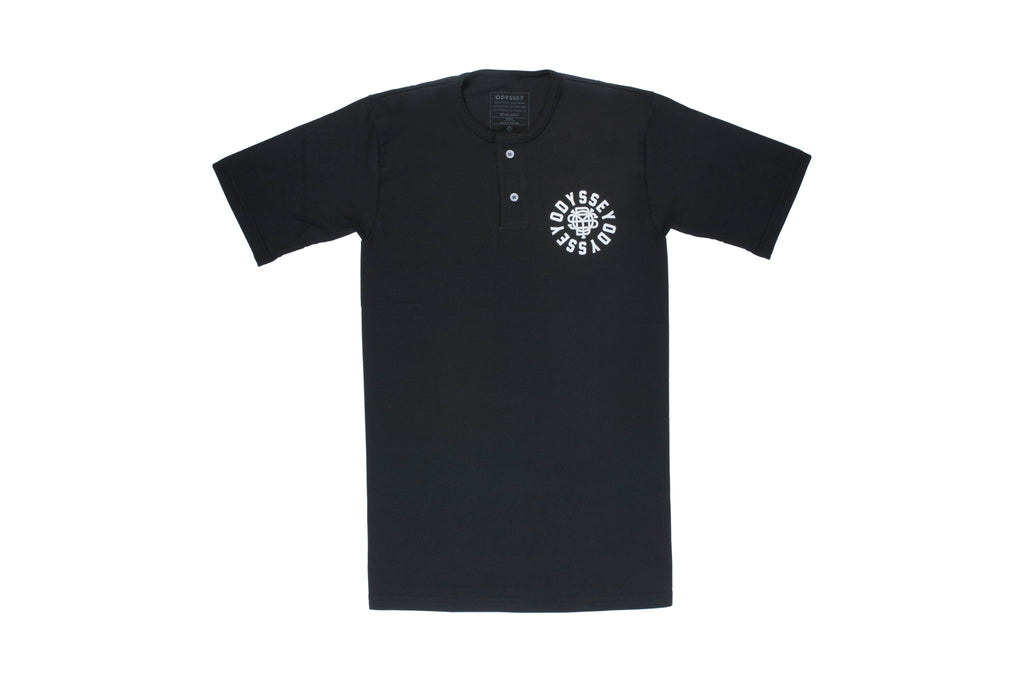 Odyssey Central Henley Tee (Black)