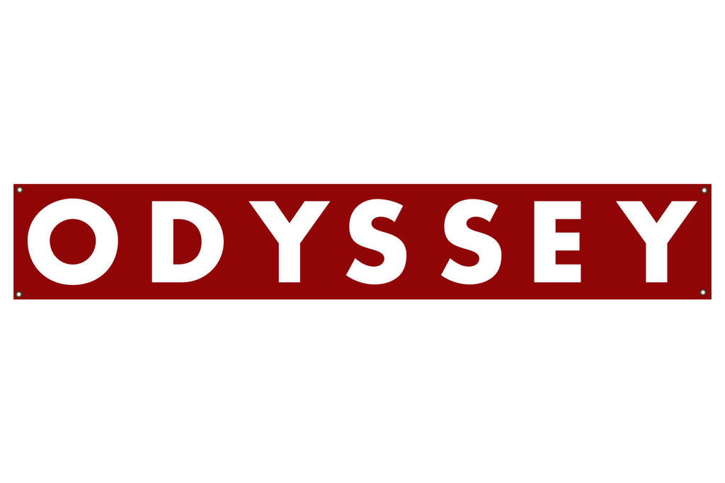 Odyssey Futura Banner - Red (6' x 1')