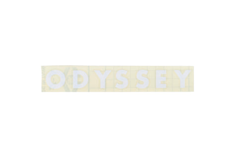 Odyssey Futura Sticker - Die Cut Transfer (White)