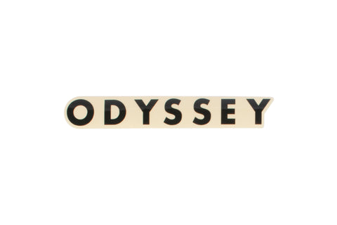 Odyssey Futura Sticker - Clear Back (Black, White, Red)