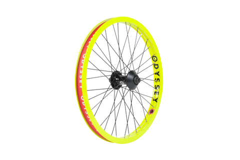 Odyssey Hazard Lite Front Wheel (Limited Edition - Fluorescent Yellow)