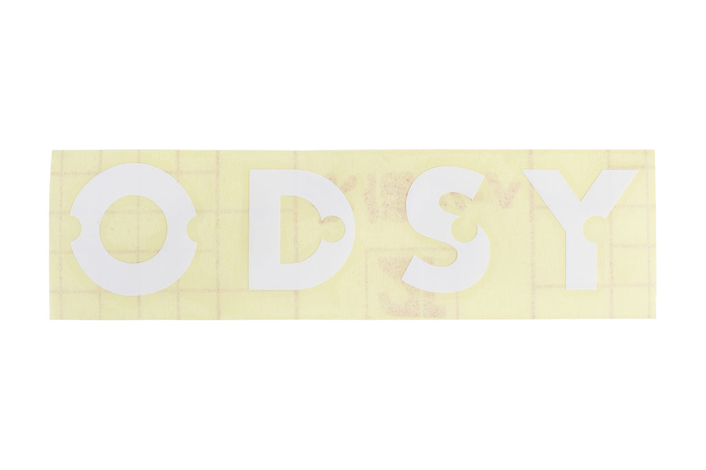 Odyssey Litehouse Rim Sticker - Die Cut Transfer (White)