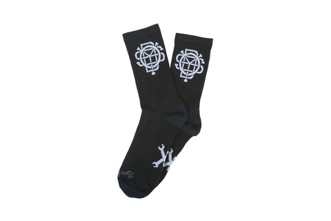 Monogram Socks (Black)