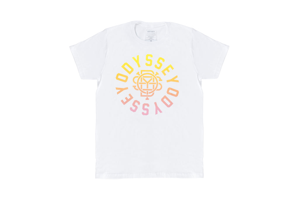 Odyssey Central T-Shirt (White/Sunset Fade)