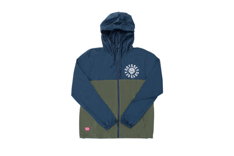 Odyssey Central Lite-Windbreaker Jacket (Navy/Olive)