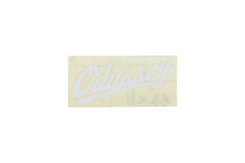 Odyssey Slugger Sticker - Die Cut transfer (White)