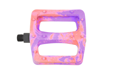 Odyssey Twisted Pro PC Pedals (Purple/Bright Red Swirl)