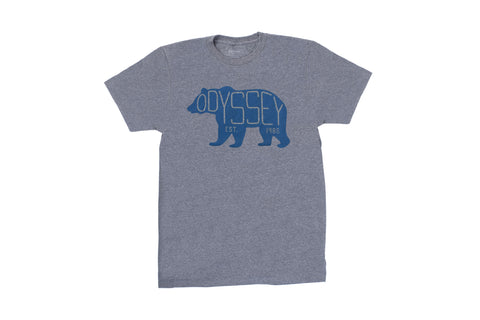 Odyssey Bear Tee (Heather Grey/Blue)