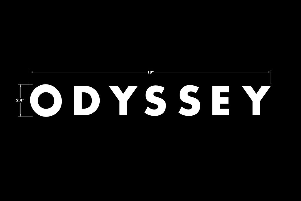Odyssey Futura Big/Ramp Die-Cut Sticker (White)