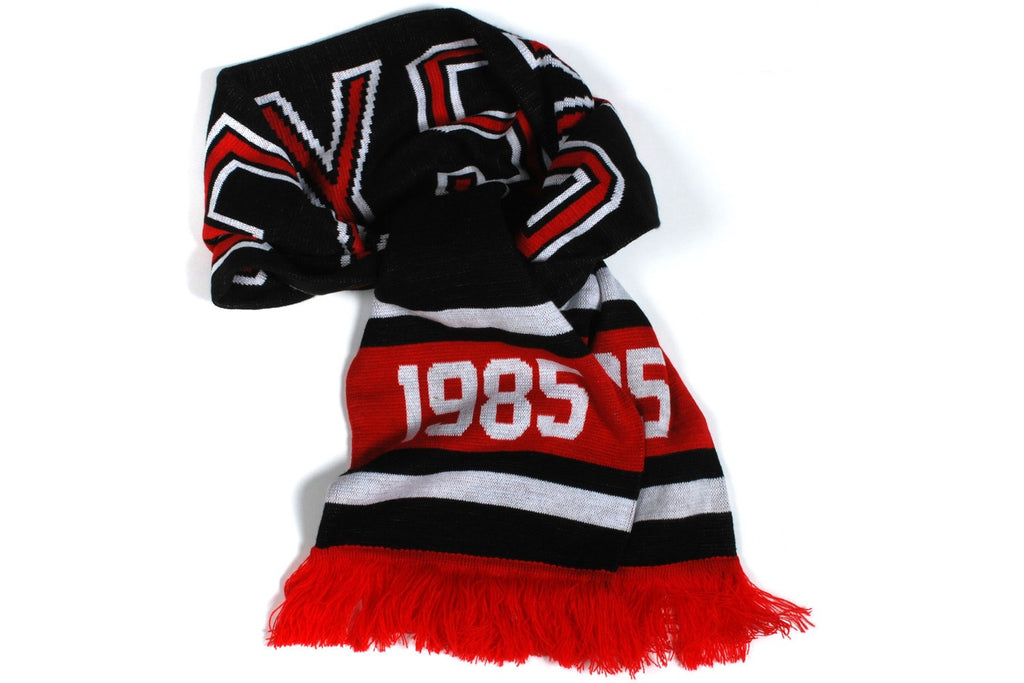 Protect Ya' Neck Knit Scarf (Black/Red)