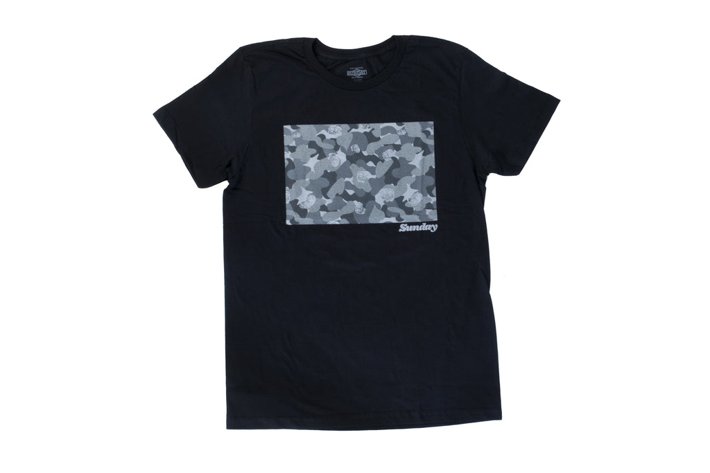 Sunday Camosweep Fill Tee (Black)