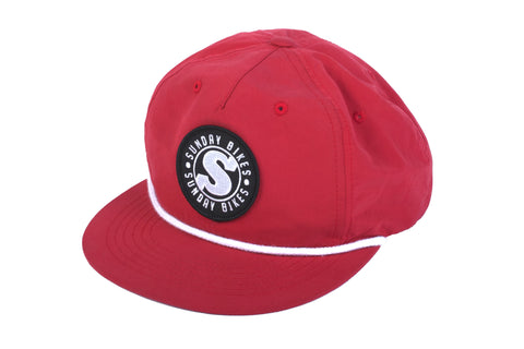 Sunday Bradge Unstructured Hat (Red)