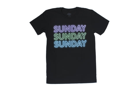 Sunday Neon Icon Tee (Black)