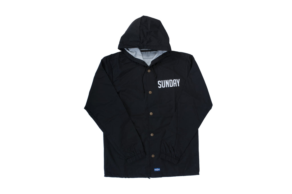 Sunday Badge Hooded Coaches Jacket (Black)