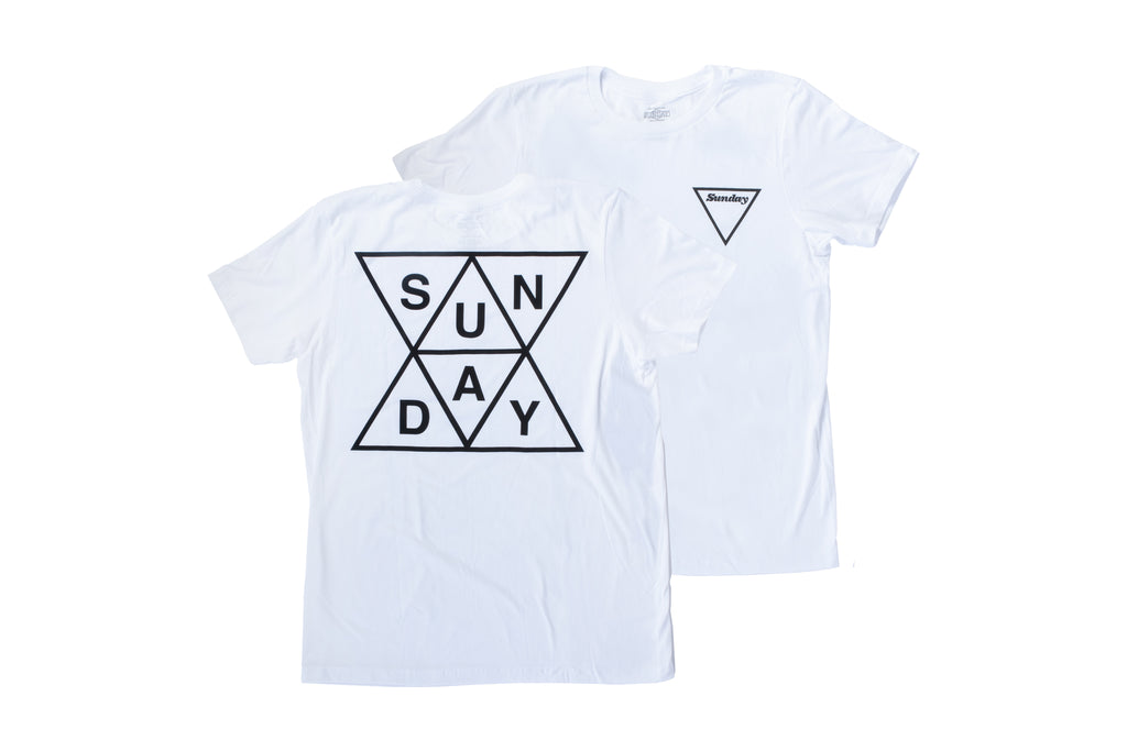 Sunday Puzzled Tee (White)