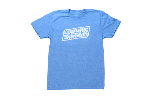 Sunday Linked Tee (Heather Royal Blue)