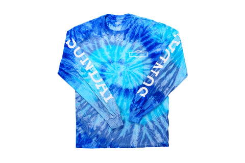 Sunday Rockwell Box Long Sleeve (Tie-Dye Blue)