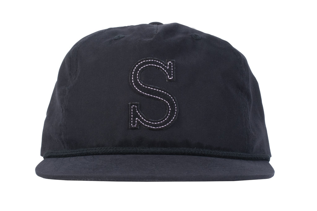 Sunday Big S Snapback Hat (Black/Pale Pink)