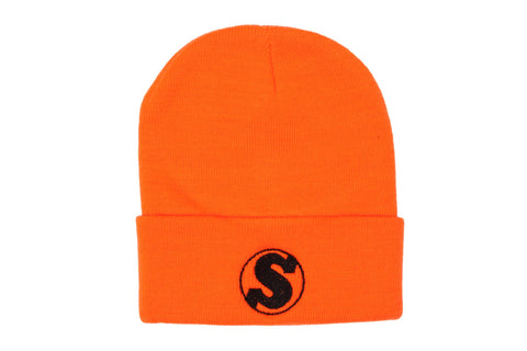 Sunday Badge Cuff Beanie (Orange)