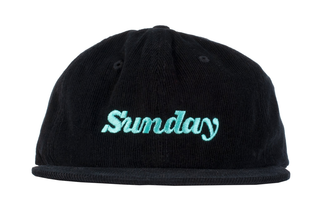 Sunday Classy Corduroy Unstructured Hat (Black)