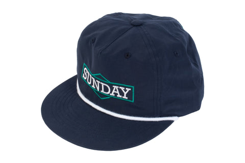 Sunday Cornerstone Rop Unstructured Hat (Navy)