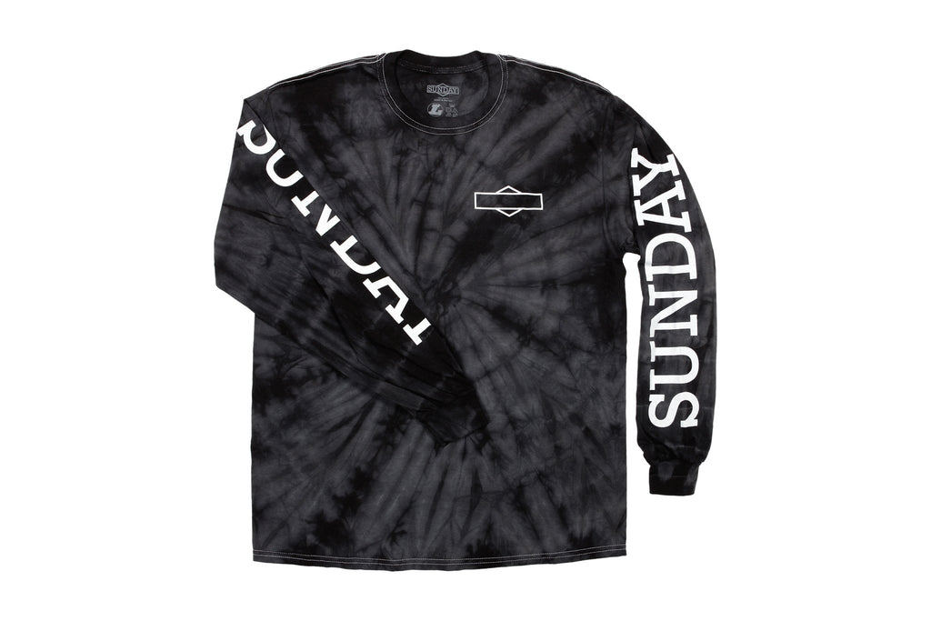 Sunday Rockwell Box Long Sleeve (Tie-Dye Black)
