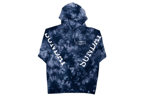 Sunday Rockwell Box Pullover Hoodie (Tie-Dye Navy)