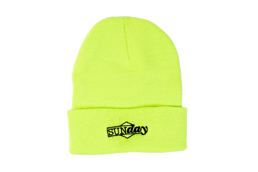 Sunday Composite Cuff Beanie (Fluorescent Yellow)