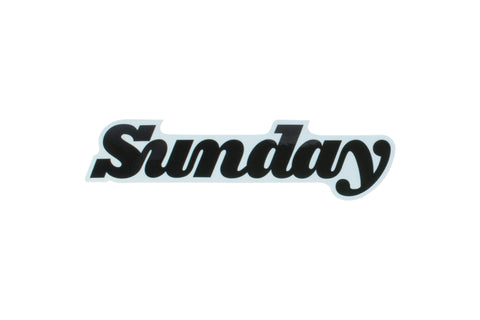Sunday Classy Logo Sticker - Clear Back (Black, White, Purple)