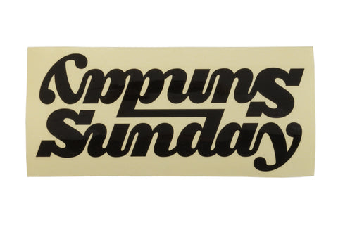 "Sunday Classy Connected 10"" Downtube Decal (Various Colors)"