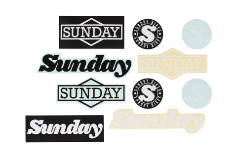 Sunday Assorted Sticker Pack