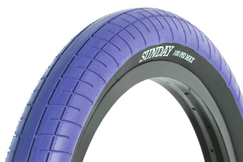 Sunday Street Sweeper Tire (Blue w/Black Wall)