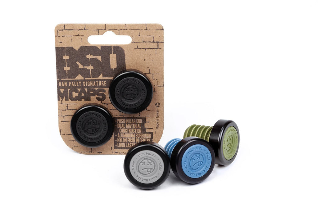 BSD M-Cap Bar Ends (Steel Blue)