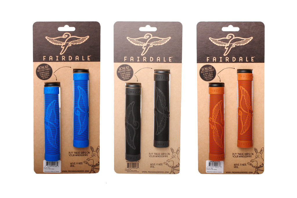 Fairdale Swan Grips - 133mm (Blue, Brown, Black)