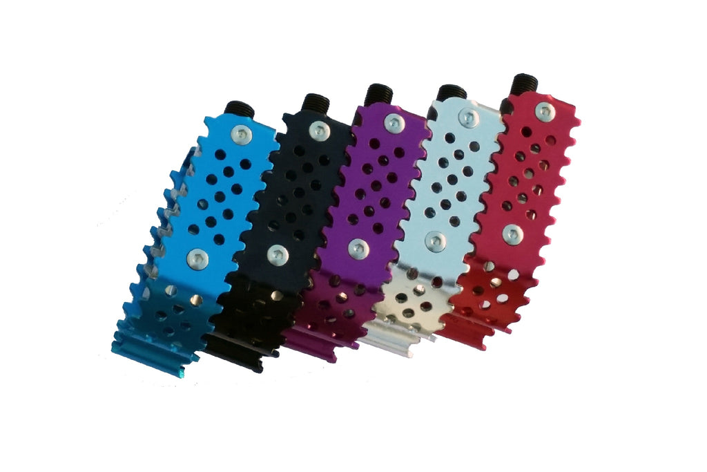 Odyssey Triple Trap Pedals (Black, Blue, Red, Purple, Silver)