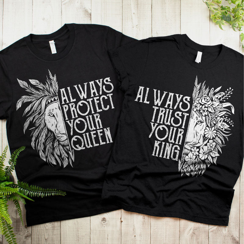 Couples Shirts - Always Protect & Trust You