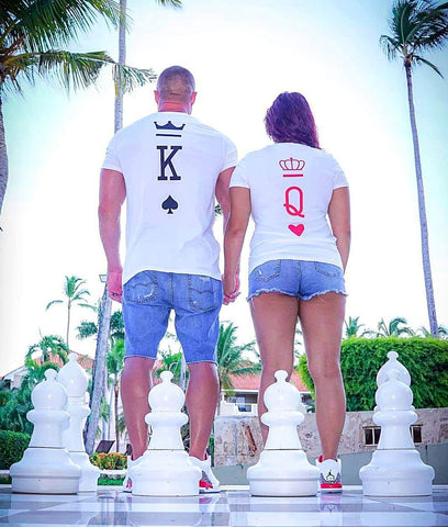 Couples Shirts - King & Queen Card