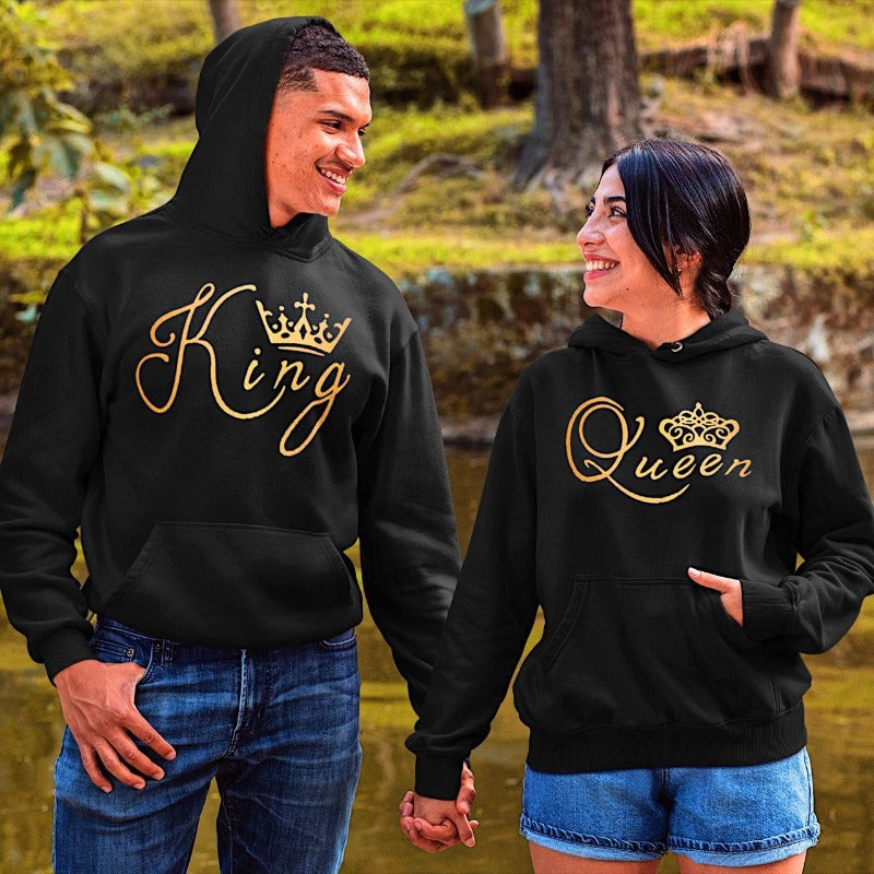 Couples Hoodies - Golden King & Queen Hoodies