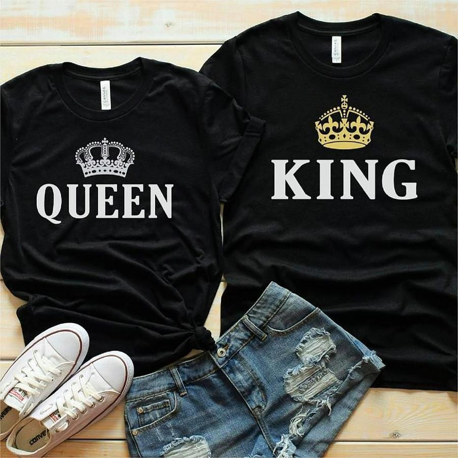 Couples Shirts - Imperial King & Queen