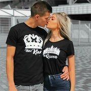 Couples Shirts - His Queen & Her King Black Shirts