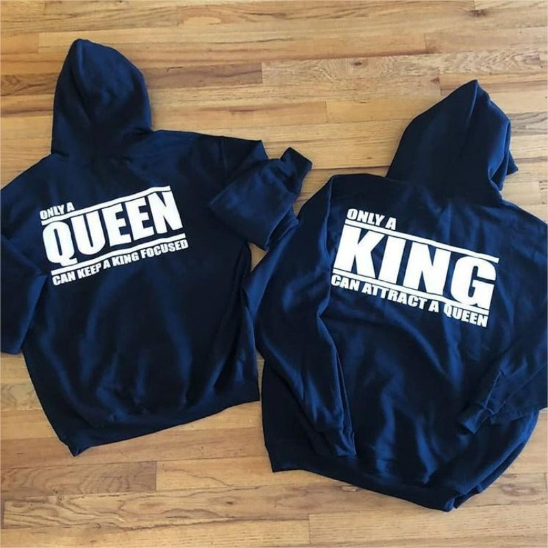 Couples Hoodies - Only King & Queen