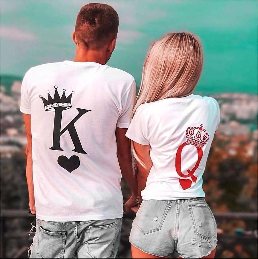 Couples Shirts - Royal King & Queen