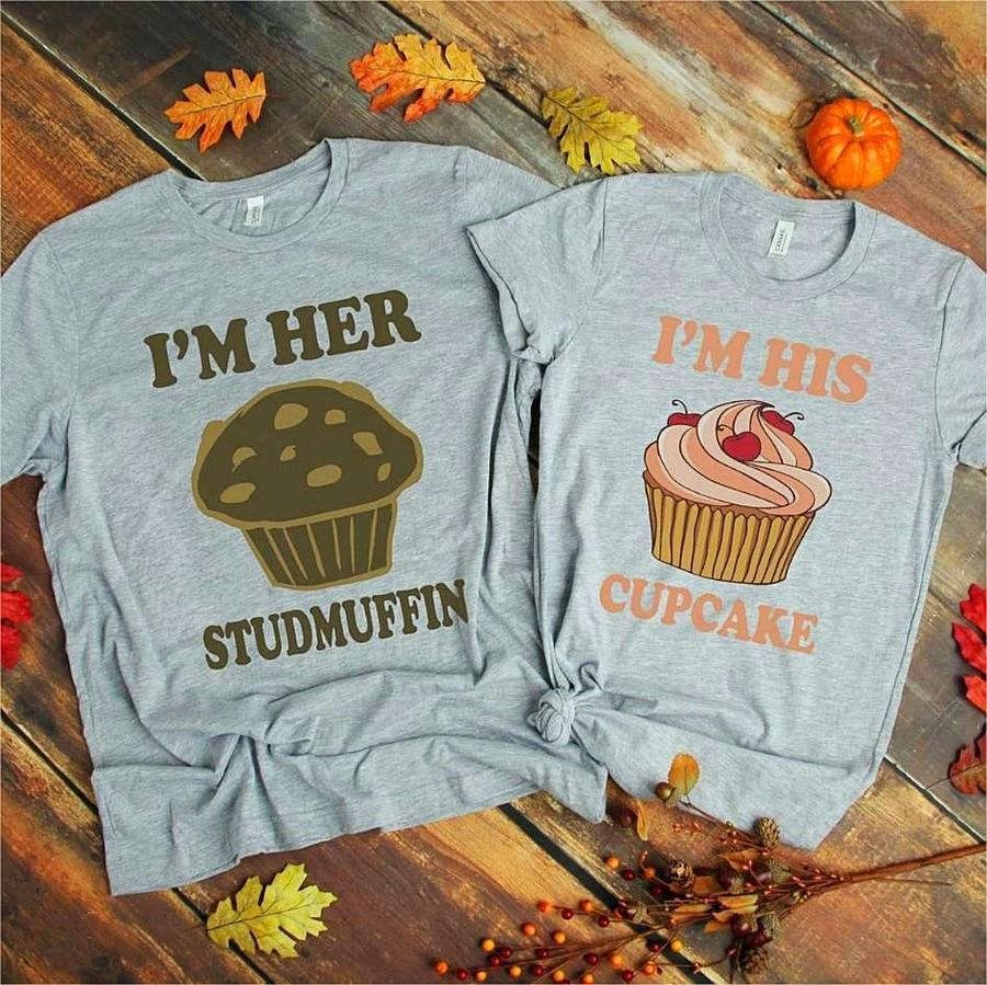 Couples Shirts - Studmuffin & Cupcake