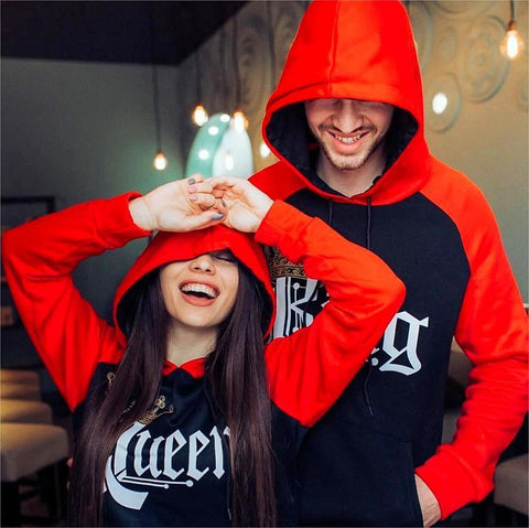 Couples Hoodies - Royal King & Queen
